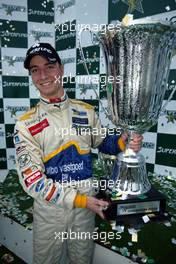 31.10.2004 Nurburgring, Germany, Sunday, 31 October 2004, Nicky Pastorelli, NED, Draco Racing Jr. Team Champion of the SUPERFUND EURO 3000 Championship - SUPERFUND EURO 3000 Championship Rd 10, Nurburgring, Germany, GER - SUPERFUND COPYRIGHT FREE editorial use only