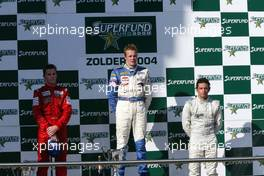 19.09.2004 Zolder, Belgium, Sunday,  18 September 2004, Jonathan Reid, NZL, John Village Automotive with Norbert Siedler, AUT, ADM Motorsport and Chistiano Rocha, BRA, Zele Racing - SUPERFUND EURO 3000 Championship Rd 8, Zolder, Belgium, BEL - SUPERFUND COPYRIGHT FREE editorial use only