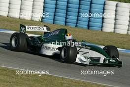 11.11.2004 Jerez, Spain, Thursday, 11 November 2004, Bas Leinders, BEL, testing the Formula SUPERFUND SF01 car - Formula SUPERFUND Testing, Jerez, Spain, ESP - SUPERFUND COPYRIGHT FREE editorial use only