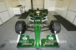 11.11.2004 Jerez, Spain, Thursday, 11 November 2004, Nicky Pastorelli, NED, with the Formula SUPERFUND SF01 car - Formula SUPERFUND Testing, Jerez, Spain, ESP - SUPERFUND COPYRIGHT FREE editorial use only