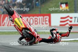 25.-27.06.2009 Assen, The Netherlands, Alvaro Bautista (ESP), #19, Mapfre Aspar Team crashes heavy / Hiroshi Aoyama (JPN), #4, Scot Racing Team 250cc  - 250cc World Championship, Rd. 7, Alice TT Assen