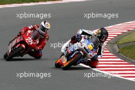 17.-19.07.2008 Oberlungwitz, Germany, Sachsenring, 125ccm, RACE, Scott Redding (GBR), Blusens Aprilia and Marcel Schrötter (GER), IDM driver with Wild Card, Honda  - MotoGP World Championship, Rd. 9, Alice German Grand Prix