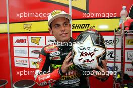 "17.-19.07.2008 Oberlungwitz, Germany, Sachsenring, 125ccm, Sandra Cortese (GER), Ajo Interwetten with an special Helmet design ""Michael Jackson, The King of Pop"" - MotoGP World Championship, Rd. 9, Alice German Grand Prix"
