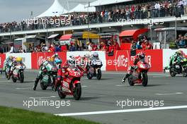17.-19.07.2008 Oberlungwitz, Germany, Sachsenring, 125ccm, RACE, GRID - MotoGP World Championship, Rd. 9, Alice German Grand Prix