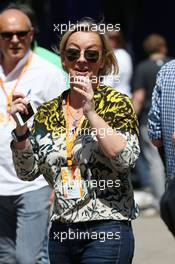 Sabine Kehm (GER) Manager of Michael Schumacher (GER). 09.05.2015. Formula 1 World Championship, Rd 5, Spanish Grand Prix, Barcelona, Spain, Qualifying Day.