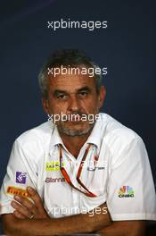 Beat Zehnder (SUI) Sauber F1 Team Manager in the FIA Press Conference. 01.07.2016. Formula 1 World Championship, Rd 9, Austrian Grand Prix, Spielberg, Austria, Practice Day.