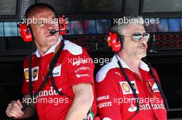 (L to R): Jock Clear (GBR) Ferrari Engineering Director with Maurizio Arrivabene (ITA) Ferrari Team Principal. 30.07.2016. Formula 1 World Championship, Rd 12, German Grand Prix, Hockenheim, Germany, Qualifying Day.