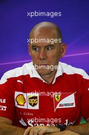 Jock Clear (GBR) Ferrari Engineering Director in the FIA Press Conference. 22.07.2016. Formula 1 World Championship, Rd 11, Hungarian Grand Prix, Budapest, Hungary, Practice Day.