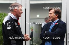 (L to R): David Redding (GBR) McLaren Team Manager with Jost Capito (GER) McLaren Chief Executive Officer. 28.10.2016. Formula 1 World Championship, Rd 19, Mexican Grand Prix, Mexico City, Mexico, Practice Day.