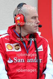 Jock Clear (GBR), Scuderia Ferrari 26.01.2016. Formula One Pirelli Wet Weather Testing, Paul Ricard, France. Tuesday.
