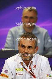 Beat Zehnder (SUI) Sauber F1 Team Manager in the FIA Press Conference. 29.10.2016. Formula 1 World Championship, Rd 4, Russian Grand Prix, Sochi Autodrom, Sochi, Russia, Practice Day.