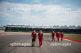 Sebastian Vettel (GER) Ferrari walks the circuit with Jock Clear (GBR) Ferrari Engineering Director. 20.10.2016. Formula 1 World Championship, Rd 18, United States Grand Prix, Austin, Texas, USA, Preparation Day.