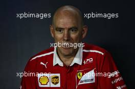 Jock Clear (GBR) Ferrari Engineering Director in the FIA Press Conference. 23.06.2017. Formula 1 World Championship, Rd 8, Azerbaijan Grand Prix, Baku Street Circuit, Azerbaijan, Practice Day.