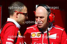 Jock Clear (GBR) Ferrari Engineering Director (Right). 27.02.2017. Formula One Testing, Day One, Barcelona, Spain. Monday.
