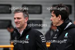 (L to R): James Allison (GBR) Mercedes AMG F1 Technical Director with Toto Wolff (GER) Mercedes AMG F1 Shareholder and Executive Director. 07.04.2017. Formula 1 World Championship, Rd 2, Chinese Grand Prix, Shanghai, China, Practice Day.