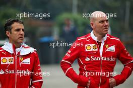 Jock Clear (GBR) Ferrari Engineering Director (Right). 06.04.2017. Formula 1 World Championship, Rd 2, Chinese Grand Prix, Shanghai, China, Preparation Day.