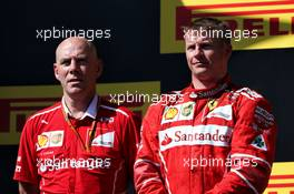 The podium (L to R): Jock Clear (GBR) Ferrari Engineering Director with second placed Kimi Raikkonen (FIN) Ferrari. 30.07.2017. Formula 1 World Championship, Rd 11, Hungarian Grand Prix, Budapest, Hungary, Race Day.