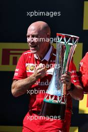 Jock Clear (GBR) Ferrari Engineering Director celebrates on the podium. 30.07.2017. Formula 1 World Championship, Rd 11, Hungarian Grand Prix, Budapest, Hungary, Race Day.