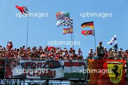 Fans in the grandstand and Ferrari flags and a banner for Michael Schumacher (GER). 29.07.2017. Formula 1 World Championship, Rd 11, Hungarian Grand Prix, Budapest, Hungary, Qualifying Day.