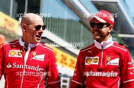Sebastian Vettel (GER) Ferrari walks the circuit with Jock Clear (GBR) Ferrari Engineering Director. 27.04.2017. Formula 1 World Championship, Rd 4, Russian Grand Prix, Sochi Autodrom, Sochi, Russia, Preparation Day.
