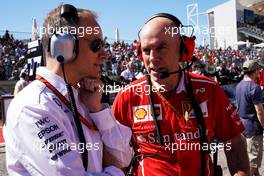 Jock Clear (GBR) Ferrari Engineering Director on the grid. 22.10.2017. Formula 1 World Championship, Rd 17, United States Grand Prix, Austin, Texas, USA, Race Day.