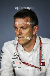 James Allison (GBR) Mercedes AMG F1 Technical Director in the FIA Press Conference. 27.04.2018. Formula 1 World Championship, Rd 4, Azerbaijan Grand Prix, Baku Street Circuit, Azerbaijan, Practice Day.