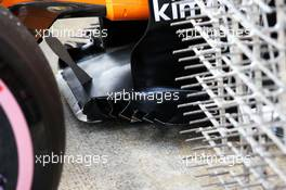 McLaren MCL33 floor detail. 27.02.2018. Formula One Testing, Day Two, Barcelona, Spain. Tuesday.