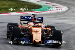 Stoffel Vandoorne (BEL) McLaren MCL33 with sensor equipment. 27.02.2018. Formula One Testing, Day Two, Barcelona, Spain. Tuesday.