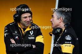 (L to R): Ciaron Pilbeam (GBR) Renault Sport F1 Team Chief Race Engineer with Nick Chester (GBR) Renault Sport F1 Team Chassis Technical Director. 27.02.2018. Formula One Testing, Day Two, Barcelona, Spain. Tuesday.