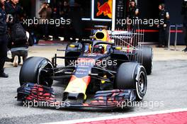 Max Verstappen (NLD) Red Bull Racing RB13 with sensor equipment. 27.02.2018. Formula One Testing, Day Two, Barcelona, Spain. Tuesday.