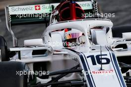 Charles Leclerc (MON) Sauber C37. 27.02.2018. Formula One Testing, Day Two, Barcelona, Spain. Tuesday.