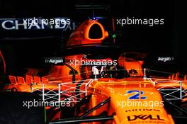 Stoffel Vandoorne (BEL) McLaren MCL33. 27.02.2018. Formula One Testing, Day Two, Barcelona, Spain. Tuesday.