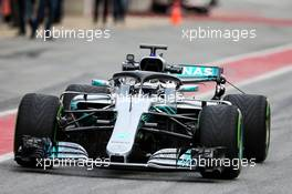 Valtteri Bottas (FIN) Mercedes AMG F1 W09. 27.02.2018. Formula One Testing, Day Two, Barcelona, Spain. Tuesday.