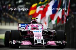 Esteban Ocon (FRA) Racing Point Force India F1 VJM11. 09.11.2018. Formula 1 World Championship, Rd 20, Brazilian Grand Prix, Sao Paulo, Brazil, Practice Day.