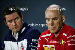 (L to R): Rob Smedley (GBR) Williams Head of Vehicle Performance and Jock Clear (GBR) Ferrari Engineering Director in the FIA Press Conference. 09.11.2018. Formula 1 World Championship, Rd 20, Brazilian Grand Prix, Sao Paulo, Brazil, Practice Day.