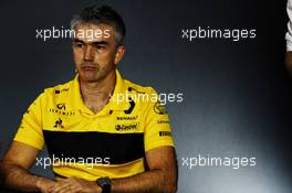 Nick Chester (GBR) Renault Sport F1 Team Chassis Technical Director in the FIA Press Conference. 09.11.2018. Formula 1 World Championship, Rd 20, Brazilian Grand Prix, Sao Paulo, Brazil, Practice Day.