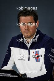Rob Smedley (GBR) Williams Head of Vehicle Performance in the FIA Press Conference. 09.11.2018. Formula 1 World Championship, Rd 20, Brazilian Grand Prix, Sao Paulo, Brazil, Practice Day.