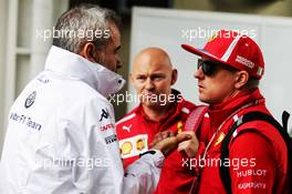 (L to R): Beat Zehnder (SUI) Sauber F1 Team Manager with Kimi Raikkonen (FIN) Ferrari. 08.11.2018. Formula 1 World Championship, Rd 20, Brazilian Grand Prix, Sao Paulo, Brazil, Preparation Day.
