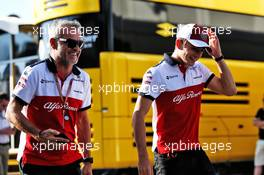 (L to R): Beat Zehnder (SUI) Sauber F1 Team Manager with Charles Leclerc (MON) Sauber F1 Team. 22.06.2018. Formula 1 World Championship, Rd 8, French Grand Prix, Paul Ricard, France, Practice Day.