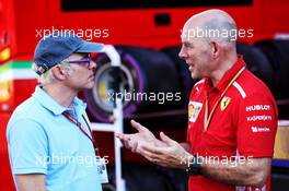 (L to R): Jacques Villeneuve (CDN) with Jock Clear (GBR) Ferrari Engineering Director. 22.06.2018. Formula 1 World Championship, Rd 8, French Grand Prix, Paul Ricard, France, Practice Day.