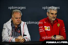(L to R): Gene Haas (USA) Haas Automotion President with Maurizio Arrivabene (ITA) Ferrari Team Principal in the FIA Press Conference. 19.10.2018. Formula 1 World Championship, Rd 18, United States Grand Prix, Austin, Texas, USA, Practice Day.