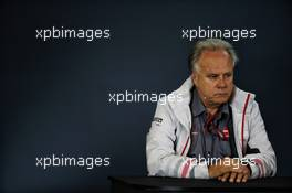 Gene Haas (USA) Haas Automotion President in the FIA Press Conference. 19.10.2018. Formula 1 World Championship, Rd 18, United States Grand Prix, Austin, Texas, USA, Practice Day.