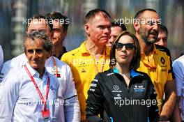 (L to R): Alain Prost (FRA) Renault F1 Team Special Advisor and Claire Williams (GBR) Williams Racing Deputy Team Principal. 17.03.2019. Formula 1 World Championship, Rd 1, Australian Grand Prix, Albert Park, Melbourne, Australia, Race Day.