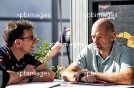 Adrian Newey (GBR) Red Bull Racing Chief Technical Officer (Right). 14.03.2019. Formula 1 World Championship, Rd 1, Australian Grand Prix, Albert Park, Melbourne, Australia, Preparation Day.