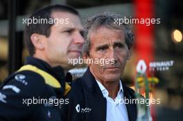 Alain Prost (FRA) Renault F1 Team Special Advisor and Remi Taffin (FRA) Renault Sport F1 Engine Technical Director. 30.08.2019. Formula 1 World Championship, Rd 13, Belgian Grand Prix, Spa Francorchamps, Belgium, Practice Day.