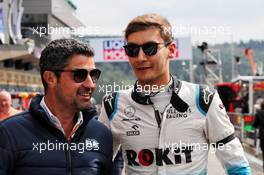 (L to R): Michael Masi (AUS) FIA Race Director with George Russell (GBR) Williams Racing. 01.09.2019. Formula 1 World Championship, Rd 13, Belgian Grand Prix, Spa Francorchamps, Belgium, Race Day.