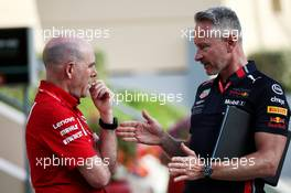 (L to R): Jock Clear (GBR) Ferrari Engineering Director with Jonathan Wheatley (GBR) Red Bull Racing Team Manager. 28.03.2019. Formula 1 World Championship, Rd 2, Bahrain Grand Prix, Sakhir, Bahrain, Preparation Day.