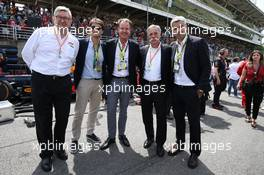 Arnaud Boetsch, Rolex with Ross Brawn, on the grid and Chase Carey (USA) Formula One Group Chairman. 17.11.2019. Formula 1 World Championship, Rd 20, Brazilian Grand Prix, Sao Paulo, Brazil, Race Day.