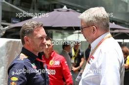 (L to R): Christian Horner (GBR) Red Bull Racing Team Principal with Ross Brawn (GBR) Managing Director, Motor Sports. 17.11.2019. Formula 1 World Championship, Rd 20, Brazilian Grand Prix, Sao Paulo, Brazil, Race Day.