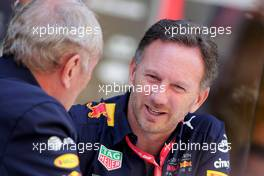 (L to R): Dr Helmut Marko (AUT) Red Bull Motorsport Consultant with Christian Horner (GBR) Red Bull Racing Team Principal. 17.11.2019. Formula 1 World Championship, Rd 20, Brazilian Grand Prix, Sao Paulo, Brazil, Race Day.